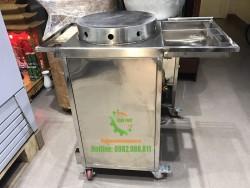 Máy làm bánh Crepe đơn dùng gas
