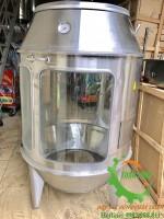 Lò quay gà vịt inox kính sử dụng than hoa