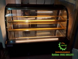 Tủ trưng bày bánh ngọt kính cong 1,5m