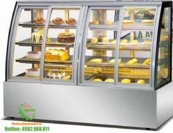 Tủ trưng bày bánh ngọt kính cong 1,8m