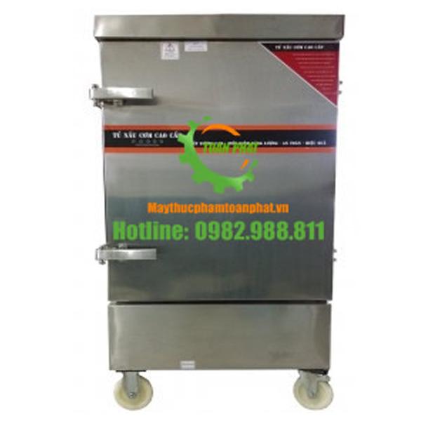 Tủ nấu cơm công nghiệp sử dụng gas 6 khay
