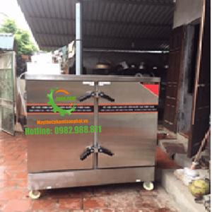 Tủ nấu cơm công nghiệp sử dụng gas điện  24 khay